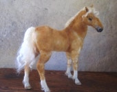 Custom horse portrait needle felted  pet memorial gift for you or your horse lover by Noelle Stiles