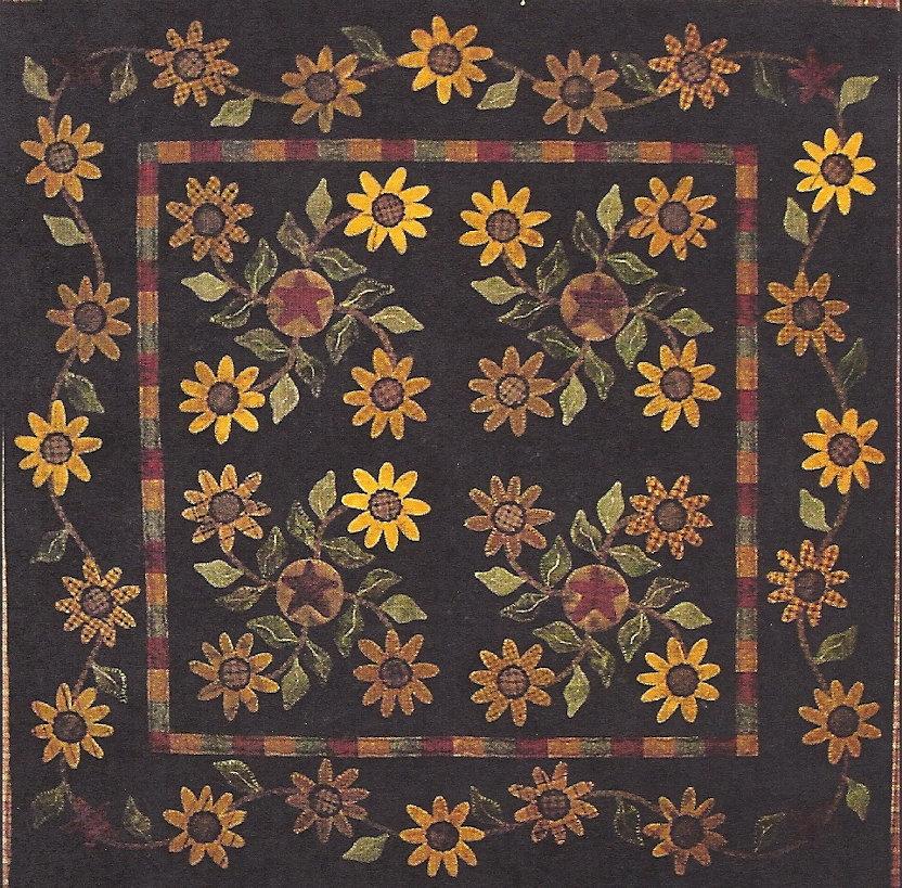 Primitive Folk Art Quilt Pattern Best Of All : Primitive Folk Art Wool Applique Quilt Pattern: by PrimFolkArtShop