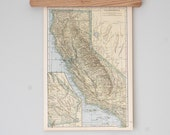 1940s Antique State Map of California and Colorado