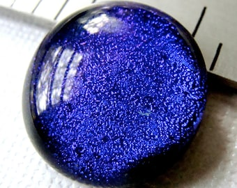 Dichroic Fused Glass Cabochon 18 mm Purple Gothic Beauty