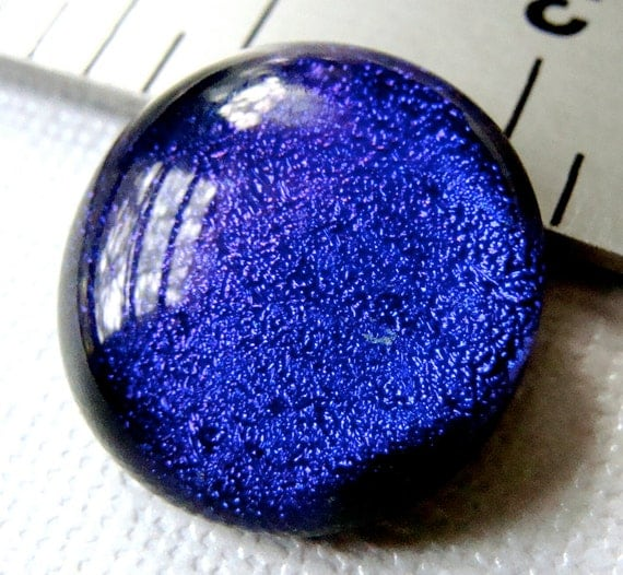 Dichroic Fused Glass Cabochon 19 mm Purple Beauty