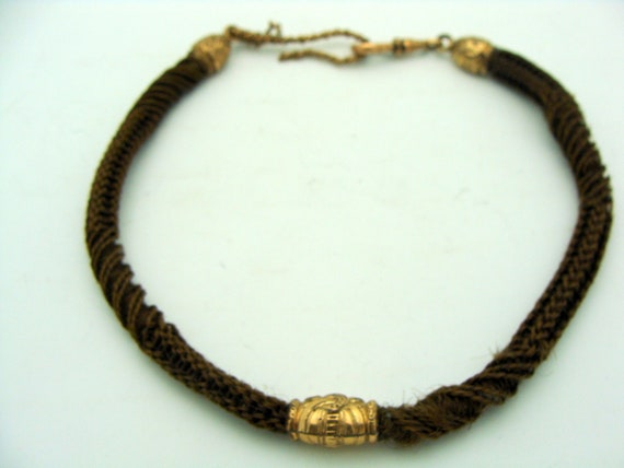 Victorian Human Hair Watch Fob/Chain Mourning Chain Jewelry