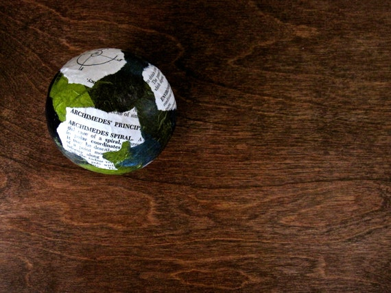 A World of Science Holiday Christmas Ornament Decorative Ball in Blue and Green Science Teacher Gift Cyber Monday Etsy