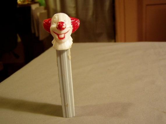 Vintage 1960s Bozo The Clown Pez Dispenser No Feet Die Cut Designs 3368