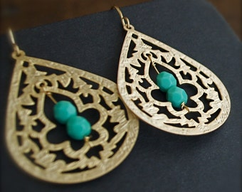 Dangle Earrings-Turquoise-Blue-Lagoon-Spring Fashion-Summer Fashion