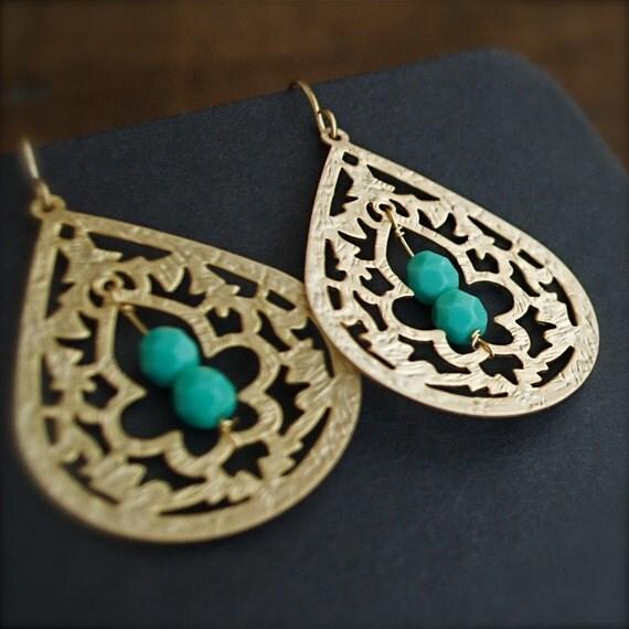 Dangle Earrings-Turquoise-Blue-Lagoon-Spring Fashion-Summer Fashion