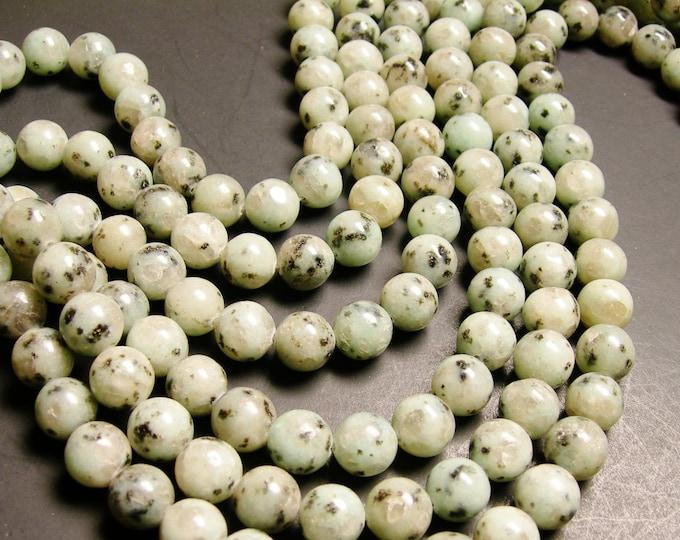 Lotus Jasper - 12 mm round   beads -1 full strand -32 beads