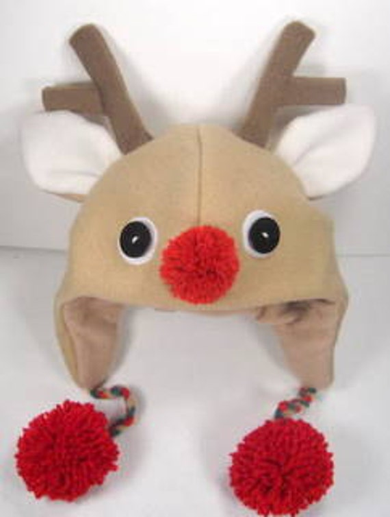 Items Similar To Sale Pdf Epattern Reindeer Fleece Aviator