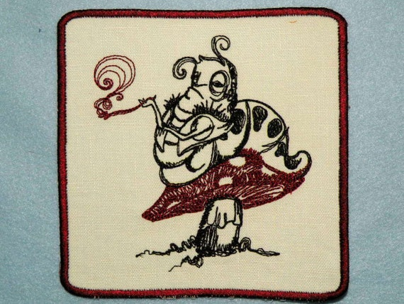Alice's Caterpillar Iron on Patch