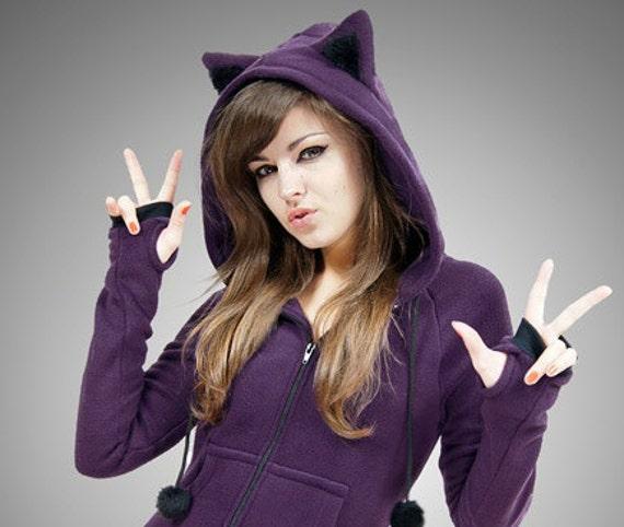 Girl Cat Sweatshirt With Ears