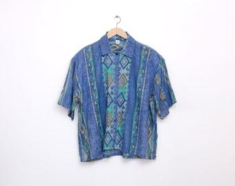 NOS vintage southwest  crop top shirt size L