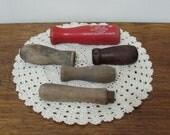 Five Vintage Rustic Wood Handles Tools Restoration
