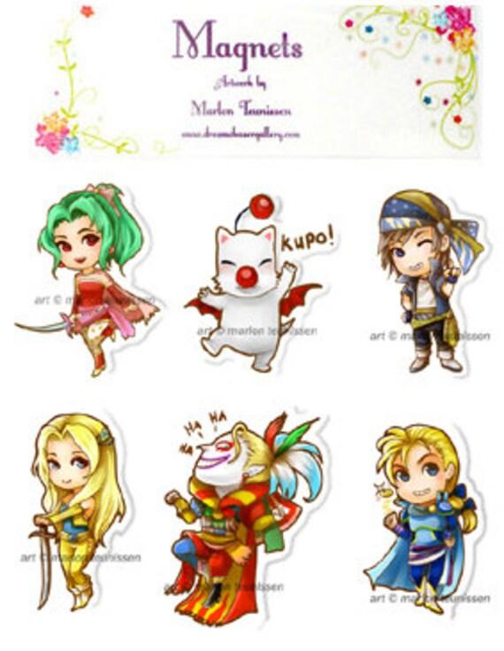 Final Fantasy 6 Magnet set of 6