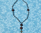 SALE Anglican Rosary Blue and Brown