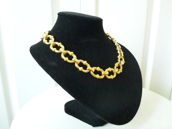 VTG. 80s 90s Gold Chain Necklace- Hipster, Gaudy, Chunky Jewelry, hipster, urban outfitters