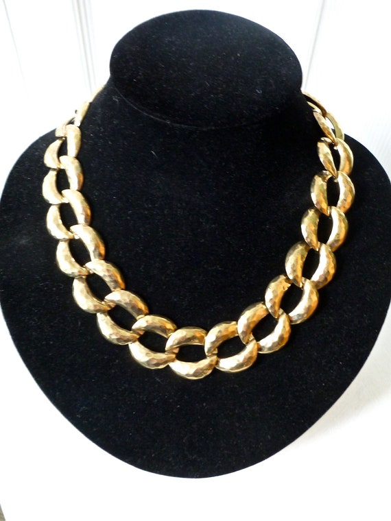 VTG. 80s Gold Chain Necklace- Hipster, Gaudy, Chunky Jewelry, hipster, urban outfitters