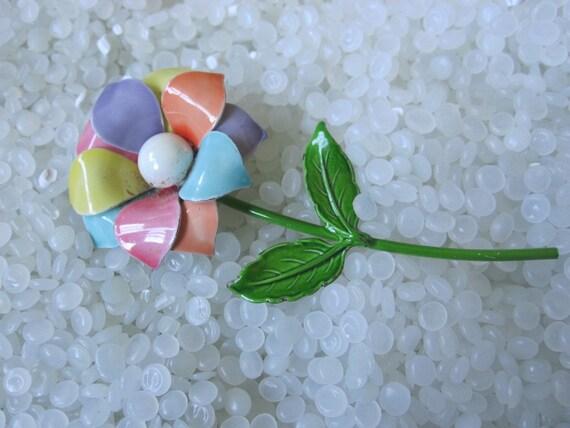 enamel flower brooch colorful flower