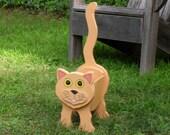 "Cat planter Box ""Pumpkin"""