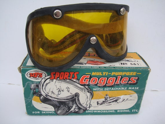 Vintage Goggles Sports Skiing  From 50s or 60s  Unique Made in the USA