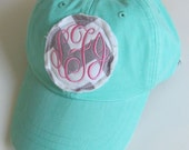 Monogrammed Baseball Cap Personalized Hat Bridesmaid Birthday Gift