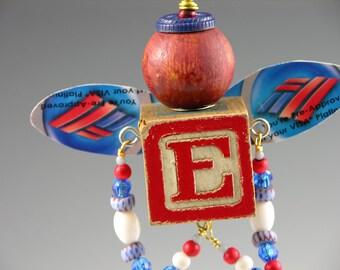 "OOAK Recycled, Upcycled, Folk Art Junk Fairy, ""Evan"""