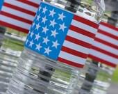 American Flag Label - Instant Download
