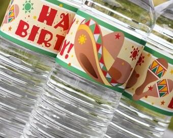Fiesta Water Label - Custom Text