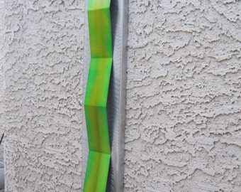 Lime green silver Metal wall art  Metal Art sculpture Home Decor garden art  by Holly Lentz