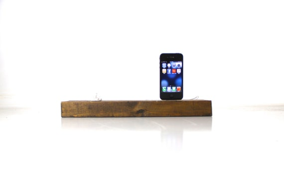 iphone, lamp, dock, charging station, unique, ooak, wood, wooden, rustic, re purposed, handmade by tangleandfold