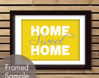 Home Sweet Home - Art Print (Featured in Canary and Dolphin) (Buy 3 and get One Free)