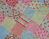 Moda. COUTURE Crib Quilt. Verna by Kate Spain. QUILTED 30x43 Minky back.