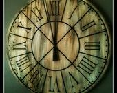 Clock Face Restoration Hardware Knockoff- Vinyl Wall Art, Graphics, Lettering, Vinyl Decal, Stickers