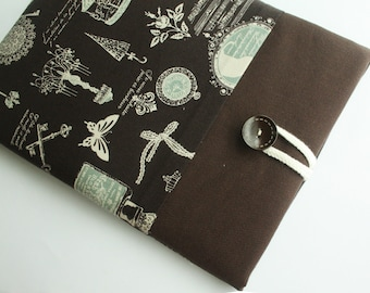Ipad case sleeve for ipad 2, new ipad -PADDED - FRONT POCKET-zakka in paris