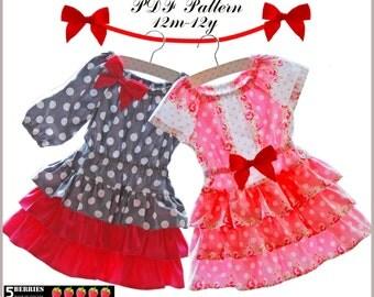 Eva Peasant Dress Pattern + Free Mother-Daughter Apron pattern, Sewing Patterns for Children,  Baby, Toddler, E book, Tutorial, PDF