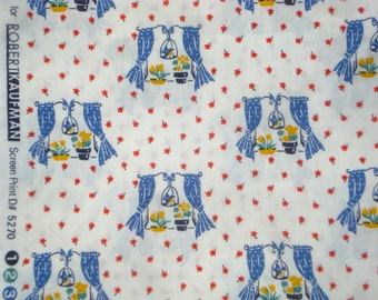 Happy Homemaker windows royal blue Darlene Zimmerman Robert Kaufman fabric FQ or more