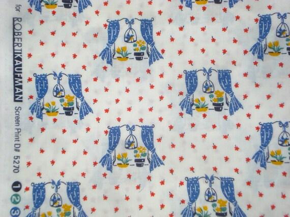 Happy Homemaker windows royal blue Darlene Zimmerman Robert Kaufman fabric FQ or more