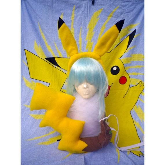 CLEARANCE Pikachu Headband and Tail Cosplay Gijinka Set by ...