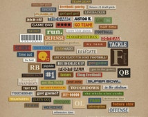 Snipettes: Sports - Football Digital Scrapbooking elements for sports, football INSTANT DOWNLOAD