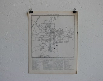 Vintage Map-City of Atlanta-Early 20th Century