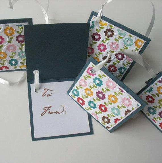 Gift Tags: Five Pack Set / Flip Open & Handmade - Pocket of Posies