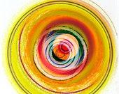 """Abstract Circular Mandala Drawing """"Parallax"""""""