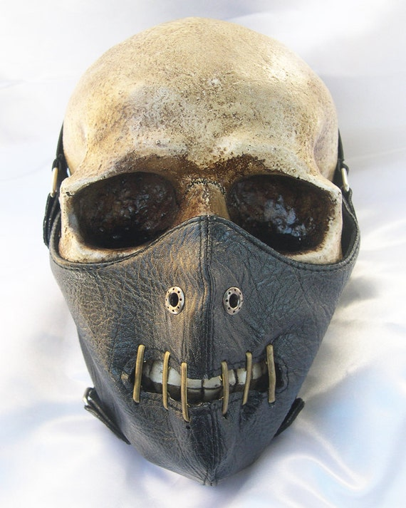 STEAMPUNK MASK-Black Hannibal Lecter Faux Leather Restraining