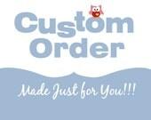 Custom Order for Tara - Forcier die cut letters - christmas in july