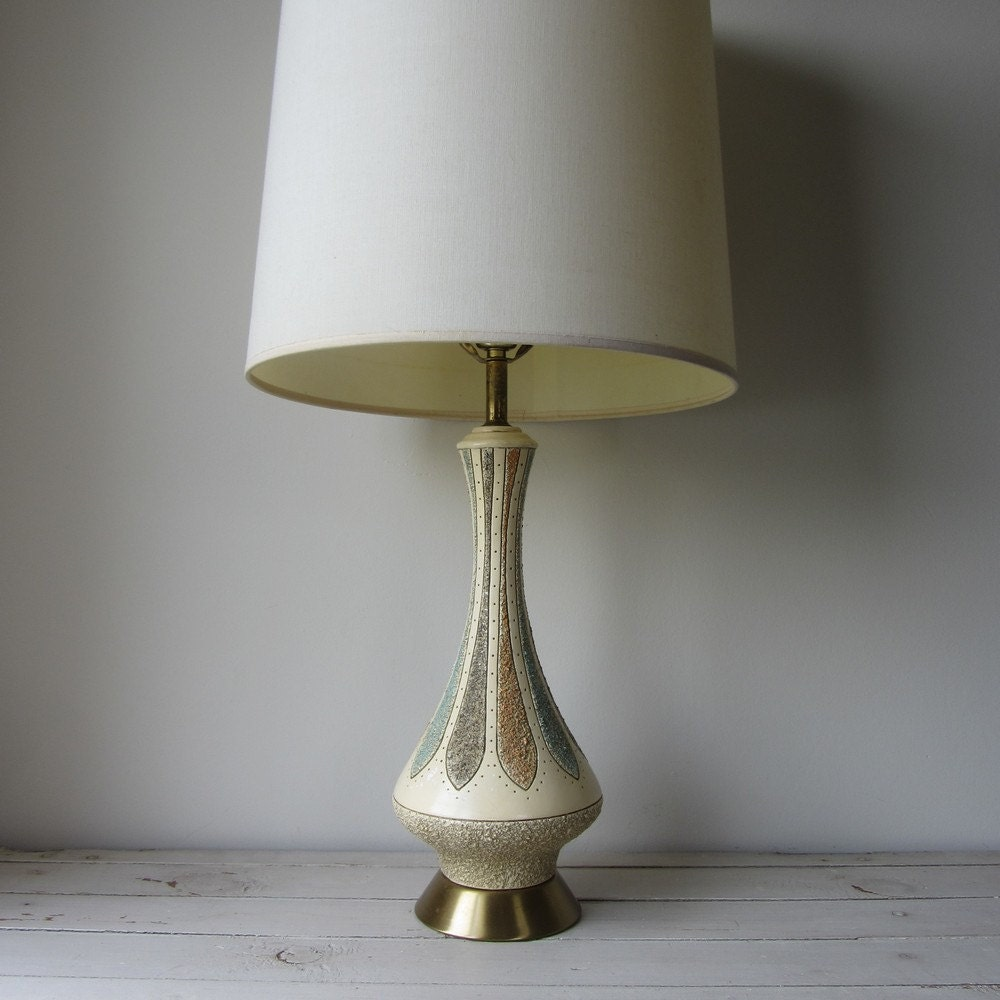 vintage mid century modern lamp lamp shade not included. Black Bedroom Furniture Sets. Home Design Ideas