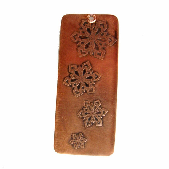 Snowflake Copper Ornament
