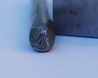 Sailboat Design Stamp  Metal Stamp LARGE-Exclusive To Me-New 3/8 in.-Metal Stamping Tool-Perfect for Metal Stamping and Metal Work