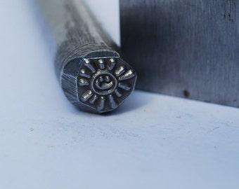 Smiling Sun- Metal Design Stamp-Metal Stamp LARGE-Exclusive To Me-New 3/8 in.-Metal Stamping Tool-Perfect for Metal Stamping and Metal Work