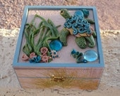 RESERVED for ELAINE Beachscape memory box