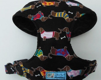 Comfort Soft Dog Harness, Dachshund. - Made to order -