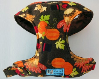 Comfort Soft Dog Harness, Thanksgiving. - Made to order -